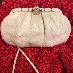 Judith Leiber reptile skin purse